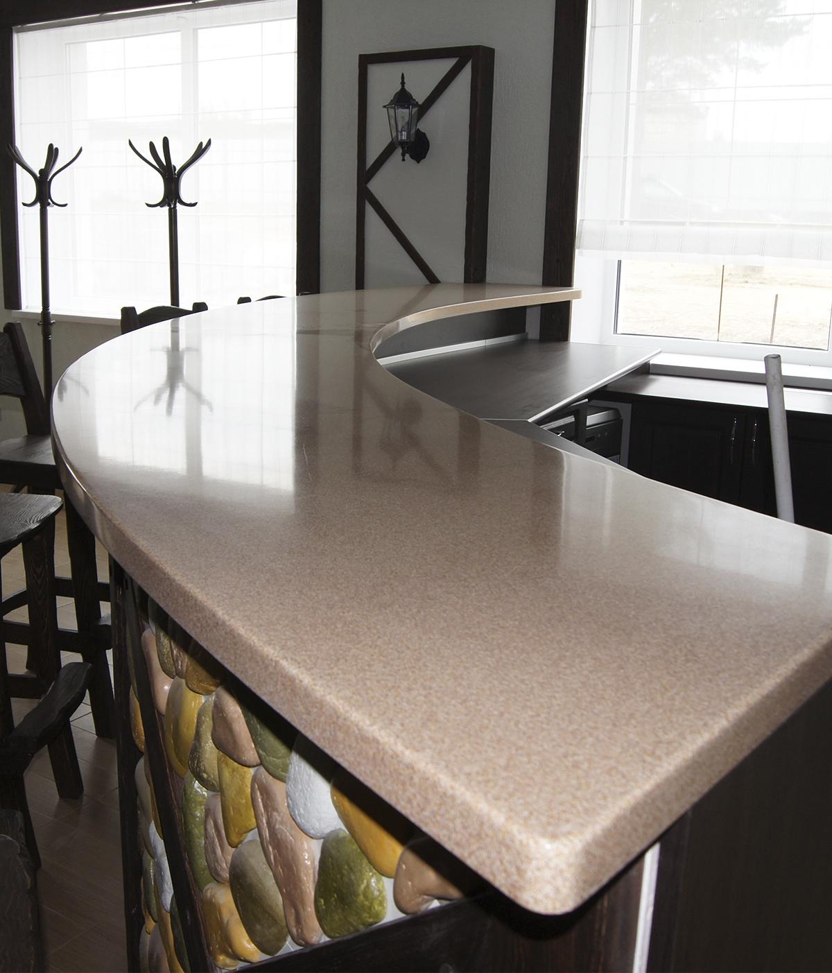 Стол из столешницы для кухни фото